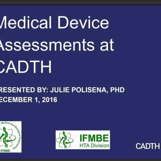 Medical Device Assessments at CADTH