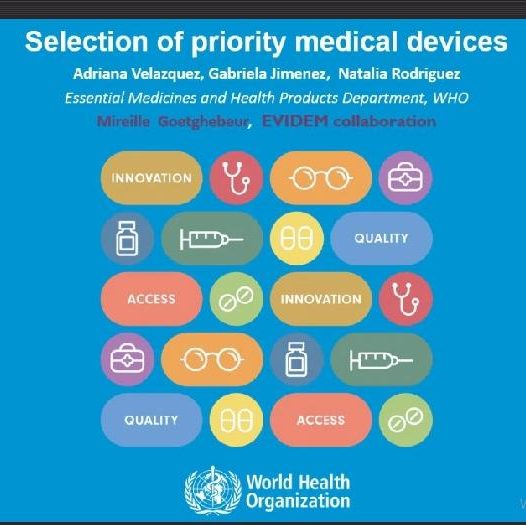 Selection of priority Medical Devices