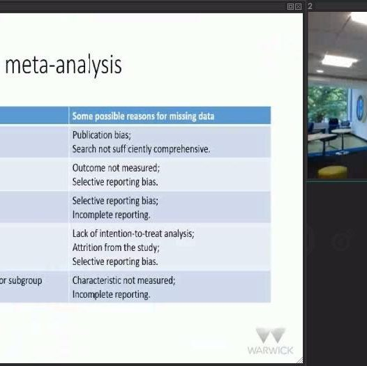 Meta-analysis with missing data