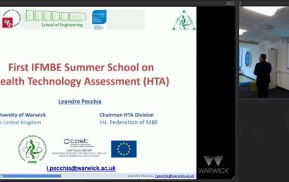 Introduction to the First IFMBE Summer School on HTA. University of Warwick, September 2015