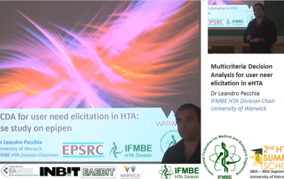 Multi-Criteria Decision Analysis (MCDA) in eHTA, Dr Leandro Pecchia – II IFMBE Summer School on HTA, Patras, Gr, 28-30.10.2017