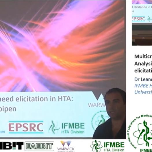 Multi-Criteria Decision Analysis (MCDA) in eHTA, Dr Leandro Pecchia – II IFMBE Summer School on HTA, Patras, Gr, 28-30.10.2017