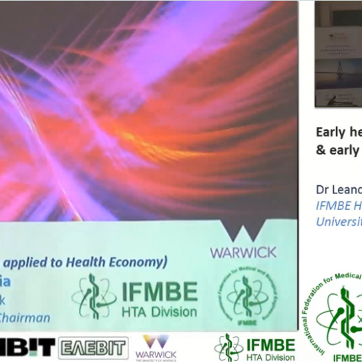 Early health economic evaluations & eHTA, Dr Leandro Pecchia -II IFMBE Summer School on HTA, Patras, Gr, 28-30.10.2017