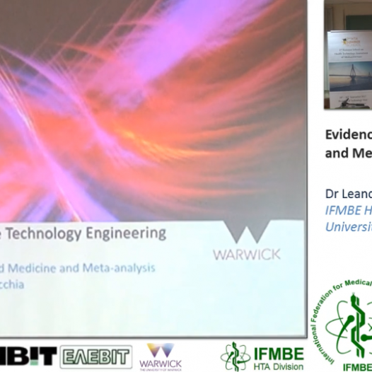 Evidence based BME and Meta-Analysis, Dr Leandro Pecchia -II IFMBE Summer School on HTA, Patras, Gr, 28-30.10.2017