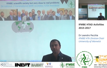 IFMBE HTAD Activities 2015-2017, Dr Leandro Pecchia -II IFMBE Summer School on HTA, Patras, Greece, 28-30.10.