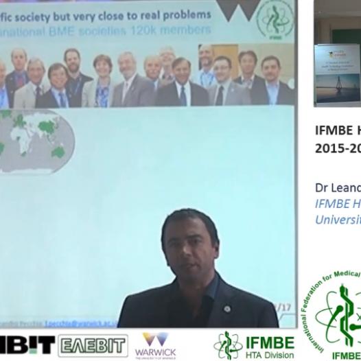 IFMBE HTAD Activities 2015-2017, Dr Leandro Pecchia -II IFMBE Summer School on HTA, Patras, Greece, 28-30.10.