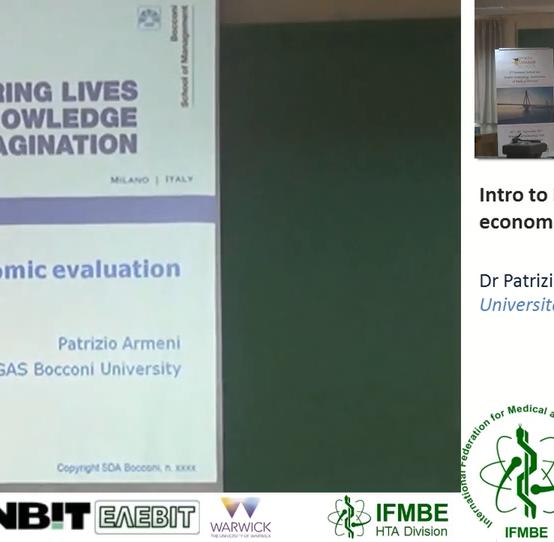 HTA, an Introduction – Part 1, Dr Patrizio Armeni – II IFMBE Summer School on HTA, Patras, Greece, 28-30.10.2017